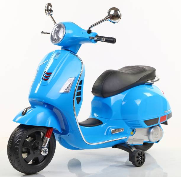 Toy House Vespa Rechargeable Battery Operated Ride-on scooter for Kids(3 to 7yrs), Blue Scooter Battery Operated Ride On
