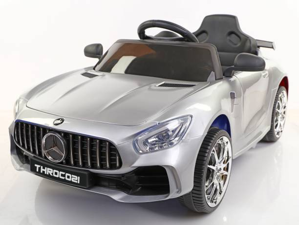 Toyhouse Futuristic Benzy AMG Rechargeable Battery Operated Ride-on car for Kids ( 2 to 5yrs ), Silver Car Battery Operated Ride On