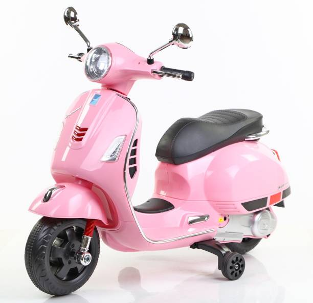 Toy House Vespa Rechargeable Battery Operated Ride-on scooter for Kids(3 to 7yrs), Pink Scooter Battery Operated Ride On