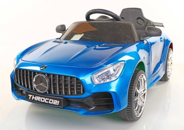 Toyhouse Futuristic Benzy AMG Rechargeable Battery Operated Ride-on car for Kids ( 2 to 5yrs ), Blue Car Battery Operated Ride On