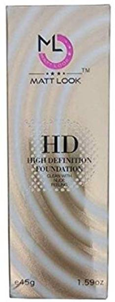 Mattlook High Defination Foundation (NATURAL BEIGE) From Medium to High Coverage Foundation