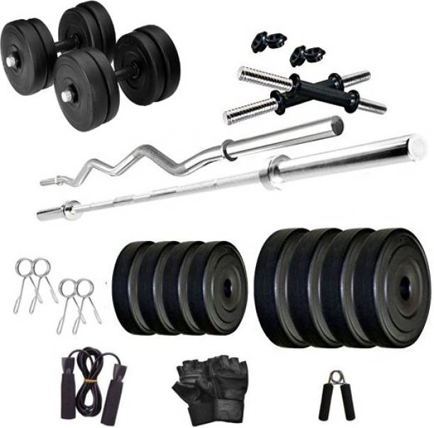 Star X 25 kg 25KG Home Gym Combo of 3Feet Curl and 4Feet Straight Rods With Accessories Home Gym Combo