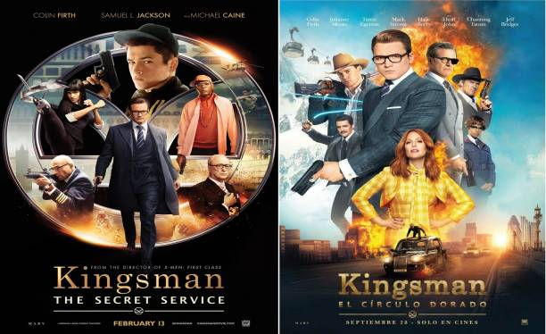 Kingsman The Golden Circle (2017) & Kingsman-The Secret Service (2014) both are in HD print clear voice dual audio Hindi & English it's burn data DVD play only in computer or laptop it's not original without poster