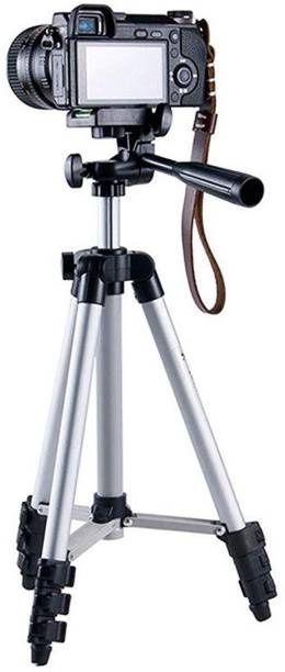 Nova Tripod-3110 Portable Adjustable Aluminum Lightweight Camera Stand With Three-Dimensional Head For Video Cameras and Mobile ( Supports Upto 3500 g ) Tripod