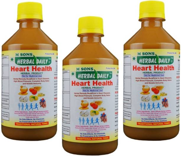 M SONS Herbal daily Herbal Daily Heart Health Pack 2, (400ml � 3)