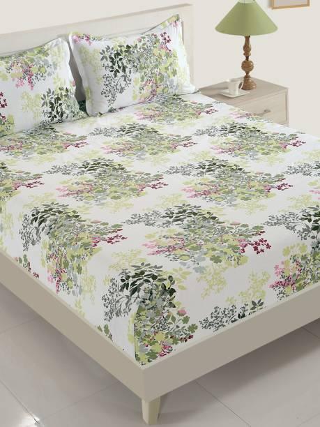SWAYAM 160 TC Cotton Double Floral Bedsheet