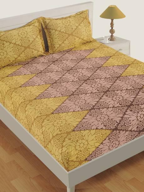 SWAYAM 144 TC Cotton Double Floral Bedsheet