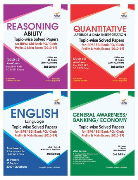 Topic-Wise Solved Papers for Ibps/ Sbi Bank Po/ Clerk Prelim & Main Exam (2010-19) Reasoning/ Quantitative Aptitude/ English/ General Knowledge