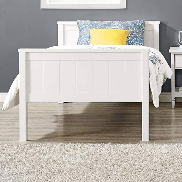 APRODZ Solid Wood Dalton Bunk Bed for Bedroom | White Finish Solid Wood Bunk Bed