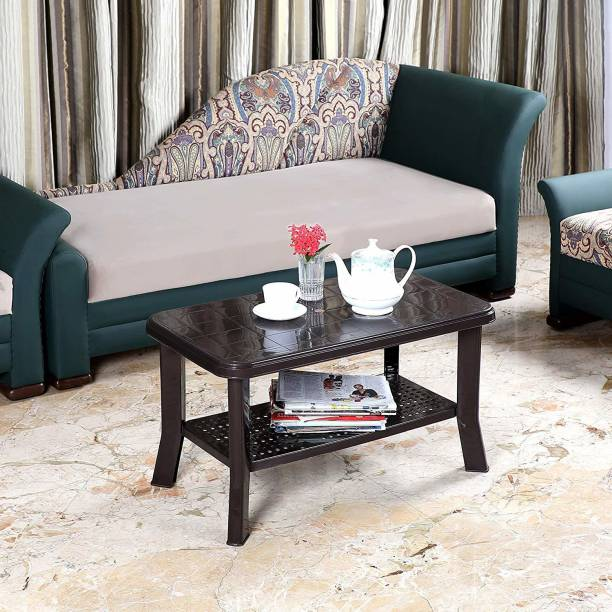 cello Oasis Four Seater Centre Table (Ice Brown) Plastic Coffee Table
