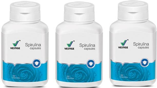 Vestige Spirulina Capsules 100 Capsules (pack of 3 )