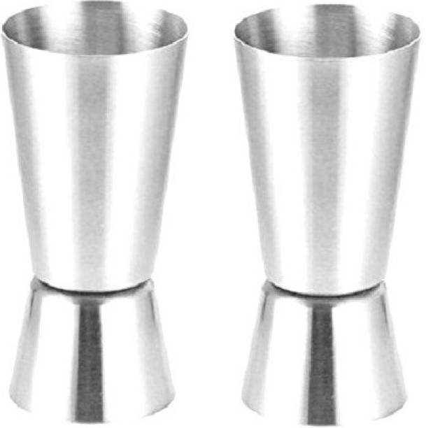 Bridge2Shopping (Pack of 2) 800016-PEG MEASURE Glass Set