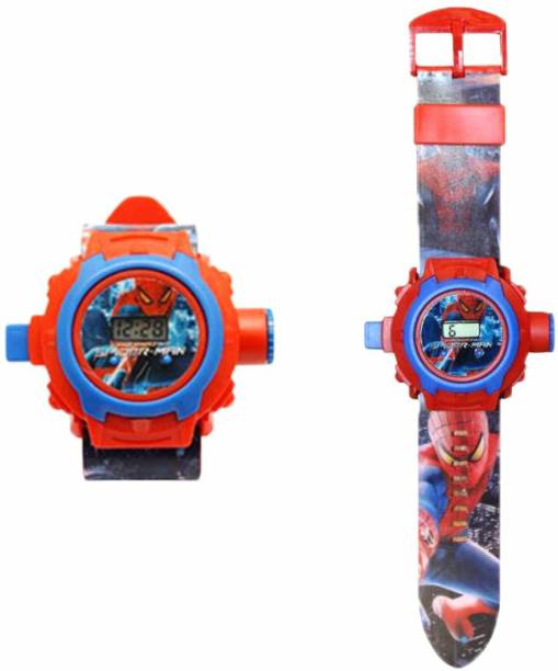 Trade Globe 24 Images Spiderman Projector Watch - Best Digital Toy Watch for Boys and Girls - Color May Vary
