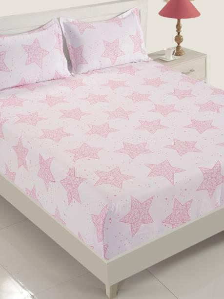 SWAYAM 200 TC Cotton Single Abstract Bedsheet