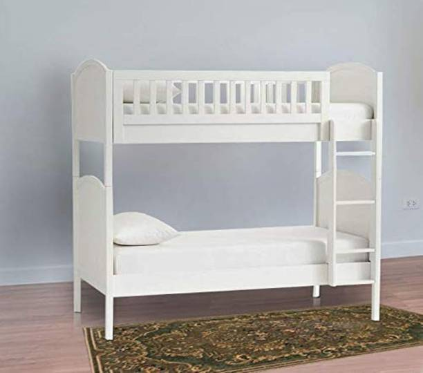 APRODZ Solid Wood Grimes Bunk Bed for Bedroom | White Finish Solid Wood Bunk Bed