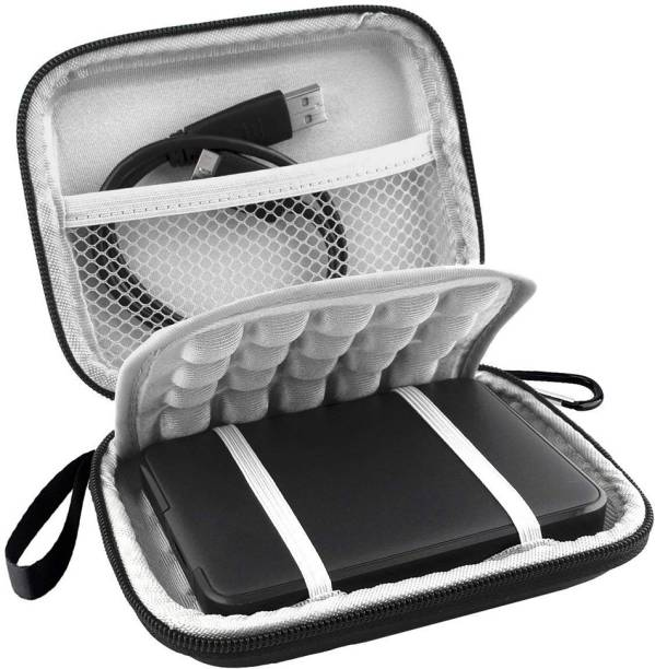 Stealodeal Pouch for Seagate, Toshiba, WD, Sony, Transcend, Lenovo, HP & Hitachi 2.5 HDD External Hard Disk Case