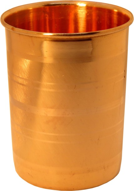 Pack of 2 Handmade pure Copper glass cup for water india Pack of 2