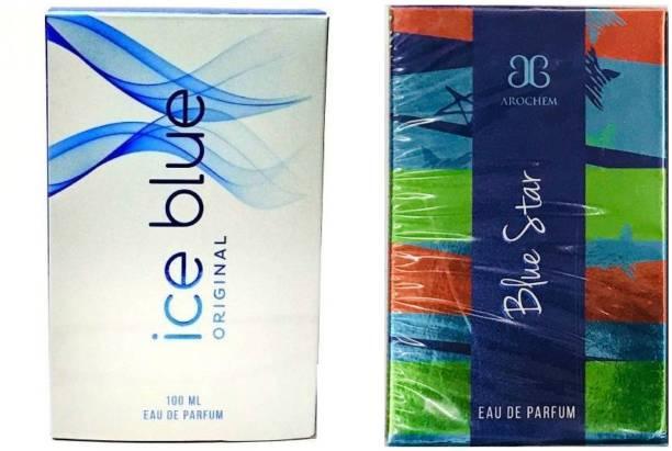 AROCHEM Ice Blue and Blue Star Perfume 100ML Each (Pack of 2) Eau de Parfum  -  200 ml