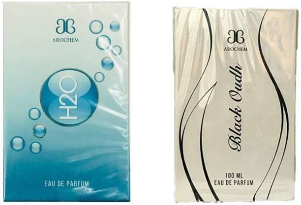 AROCHEM H2O and Black Oudh Perfume 100ML Each (Pack of 2) Eau de Parfum  -  200 ml