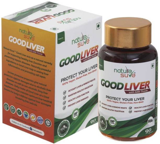 Nature Sure Good Liver Capsules 1 Pack (90 Caps) – for natural protection against fatty liver