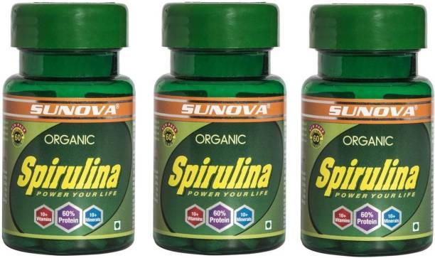 SUNOVA Organic Spirulina - Power your life (Pack of 3)