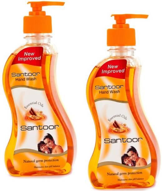 santoor Handwash sandel Hand Wash Bottle