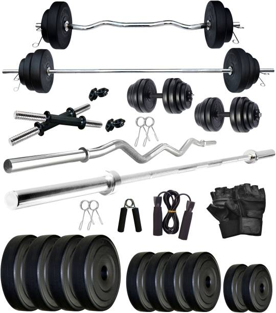 FITMAX 20 kg PVC COMBO 2-WB-SL Home Gym Combo