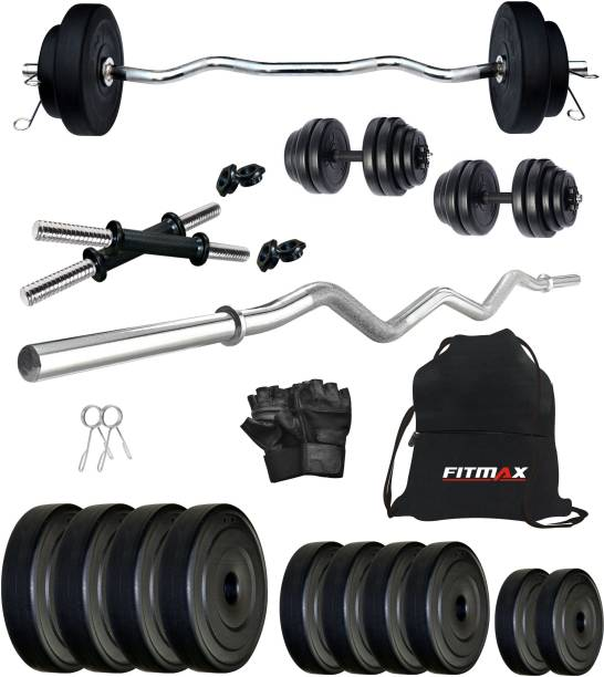 FITMAX 20 kg PVC COMBO 4-SL Home Gym Combo