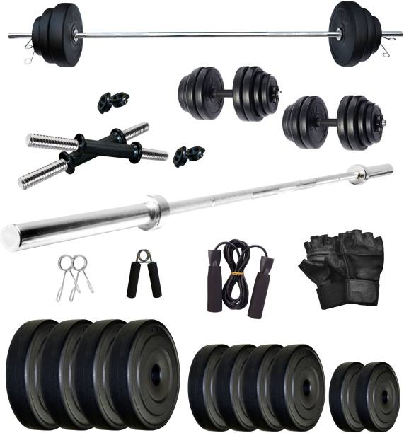 FITMAX 20 kg PVC COMBO 9-WB-SL Home Gym Combo