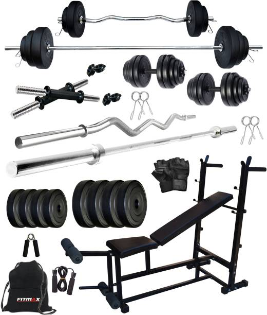 FITMAX 80 kg PVC COMBO 25-SL Home Gym Combo