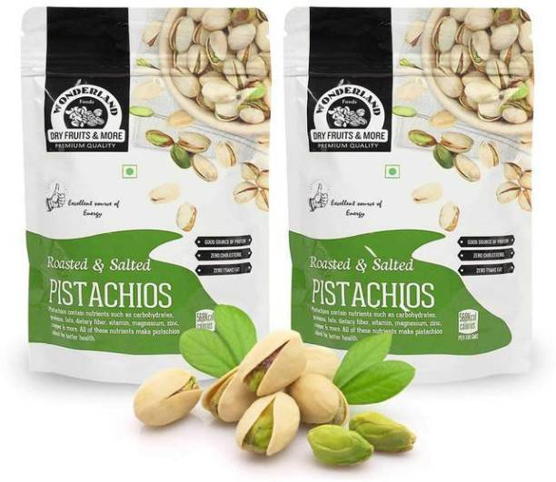 WONDERLAND Foods(Device) Roasted & Salted Pistachios Premium Quality 400g Jumbo Size (Pack of 2) (200g Each) Pistachios