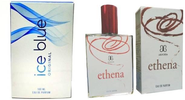 AROCHEM Ice Blue and Ethena Perfume 100ML Each (Pack of 2) Eau de Parfum  -  200 ml
