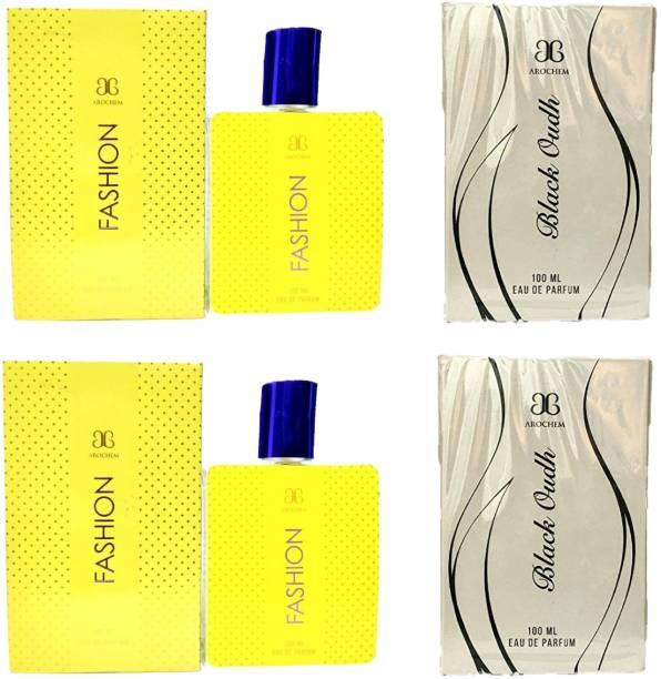 AROCHEM 2 Fashion and 2 Black Oudh Perfume 100ML Each (Pack of 4) Eau de Parfum  -  400 ml
