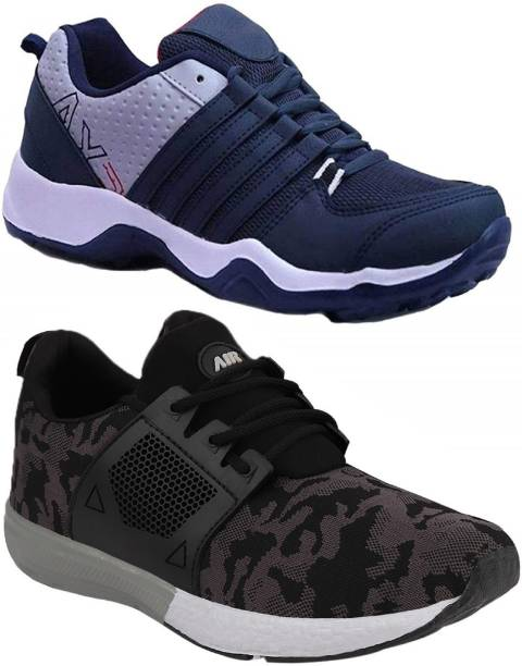 Chevit Combo Pack of 2 Sports Shoes Running Shoes For Men