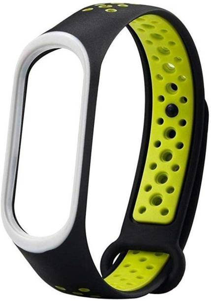 Epaal Replacement Nike Style TPU Silicon Strap Compatible with Mi Band 4 & Mi Band 3 - Green Smart Band Strap Smart Band Strap