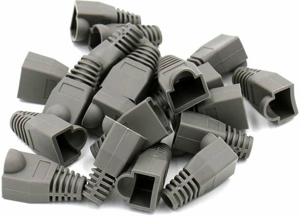 RIVER FOX 100 Pieces Cat5E Cat6 Rj45 Plugs Strain Relief Socket Boots Connector Silicone Cap Wireless Wire Connector
