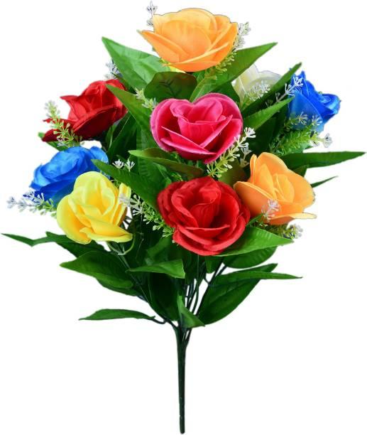 Yash Enterprises Multicolor Rose Artificial Flower