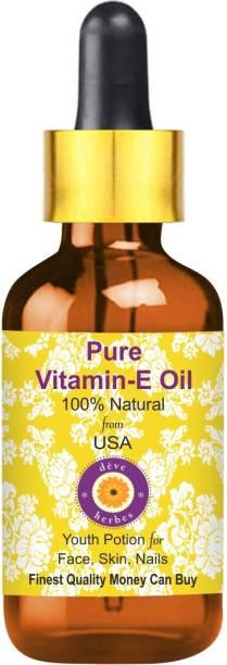 deve herbes Pure Vitamin E Oil with Glass Dropper 100% Natural Therapeutic Grade
