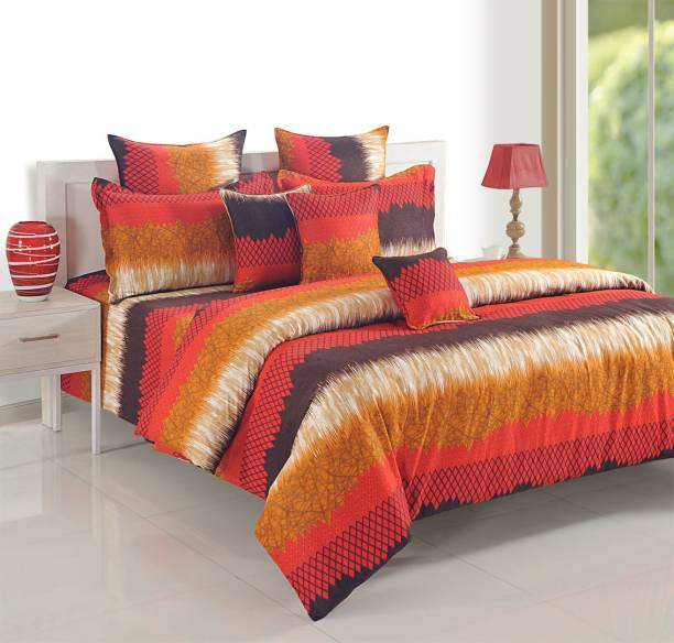 SWAYAM 250 TC Cotton Double Abstract Bedsheet