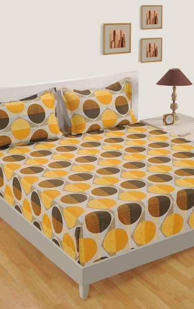 SWAYAM 160 TC Cotton Single Geometric Bedsheet