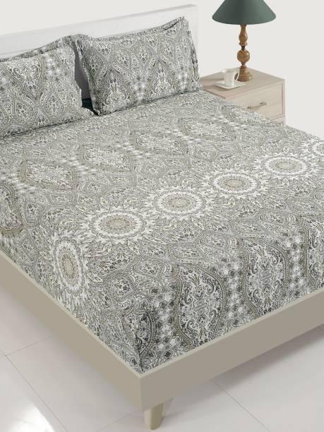SWAYAM 144 TC Cotton Double Motifs Bedsheet