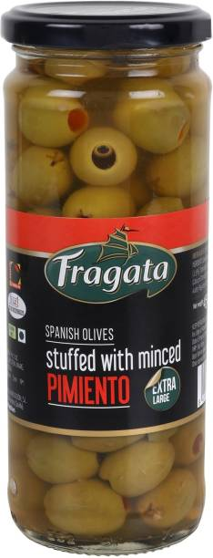 Fragata Spanish Green Olives Stuffed with Minced Pimiento Olives & Peppers