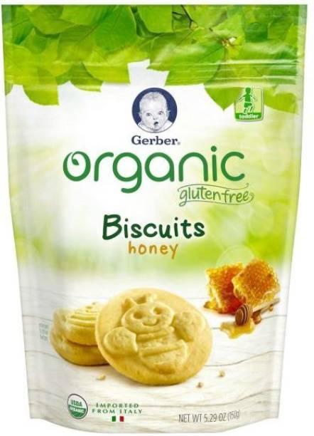Gerber Gluten Free Biscuits, Honey- 5.29oz