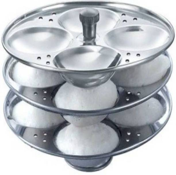 Kitchen Delli Stainless Steel 3-Rack Idli Stand, Makes 12 Idlis Induction & Standard Idli Maker