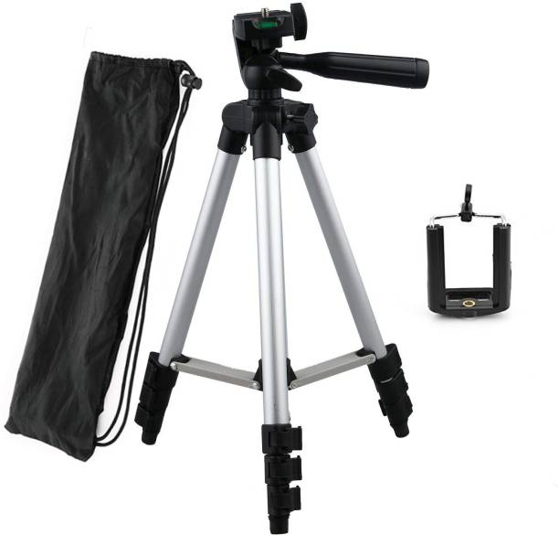 CASADOMANI Portable Tripod-3110 With Three-Dimensional Head & Quick Release Plate For Cameras and mobile clip holder Light Weight Travel Tripod for All Smartphones Tripod Tripod