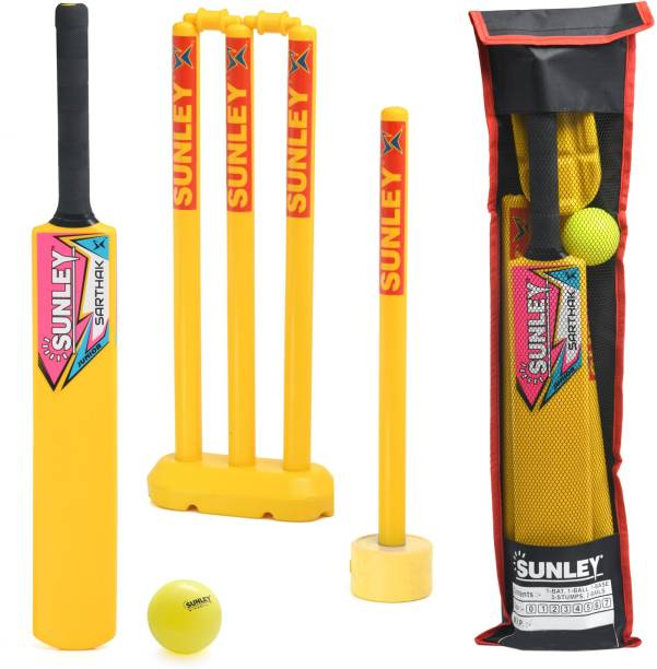 SUNLEY Plastic Cricket Kit Juniors Size 2 For Age Group 6-7 Years Kids Cricket Kit