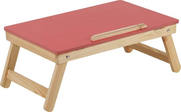 MDN Premium Quality Foldable Multipurpose Laptop/Study/Bed Table (Red) Wood Portable Laptop Table
