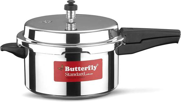 Butterfly Present Aluminium induction base standard plus 5.0 liter 5 L Induction Bottom Pressure Cooker