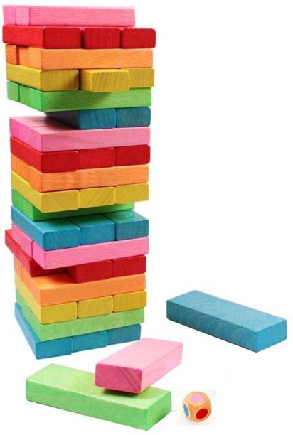 Bluwings 54 pcs Jenga Block Game
