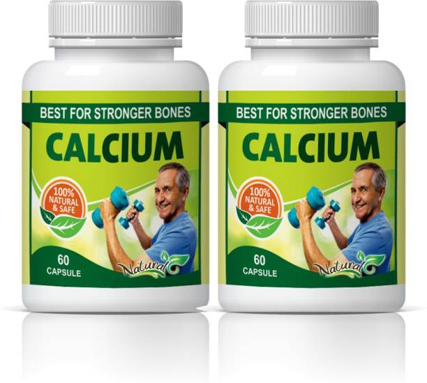Natural Calcium Best Stronger For Bones Capsules Pack of 2